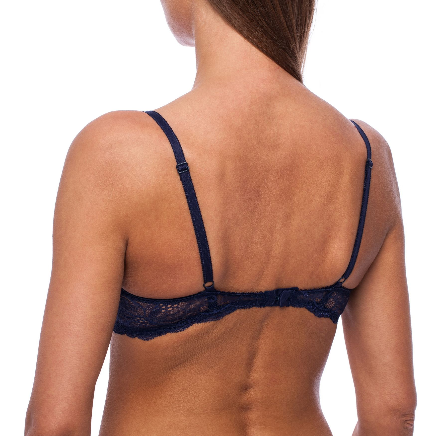 Balconette-Demi-Underwire-Lightly-Padded-Sexy-Comfortable-Lace-Half-Cup-Bra thumbnail 14