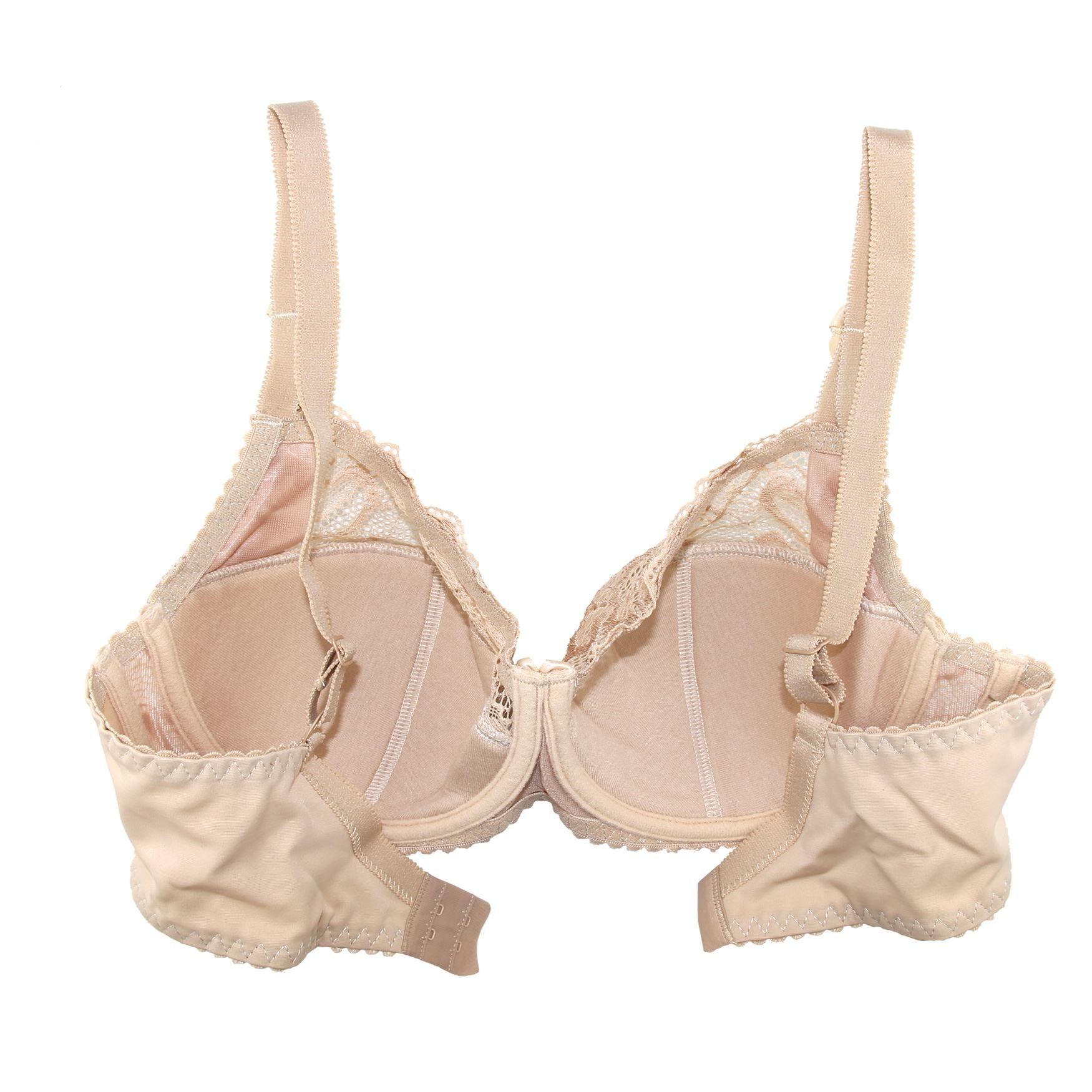 Plus-Size-Bra-Full-Coverage-Underwire-Minimizer-Padded-Comfortable-Lace-Figure thumbnail 5