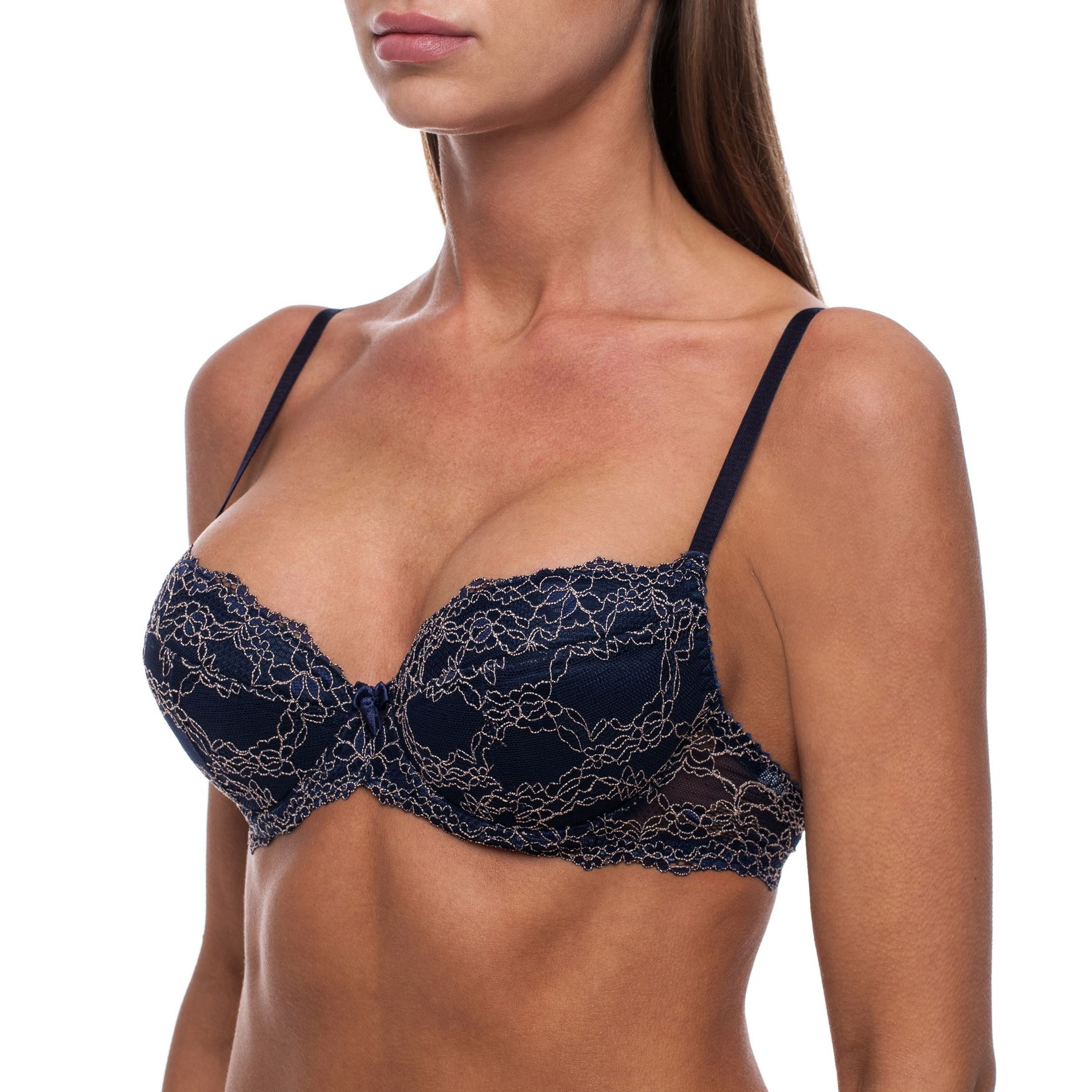 44c65daa5b6c2 Sexy Push Up Lace Comfortable Underwire Demi Half Cup Padded PushUp ...
