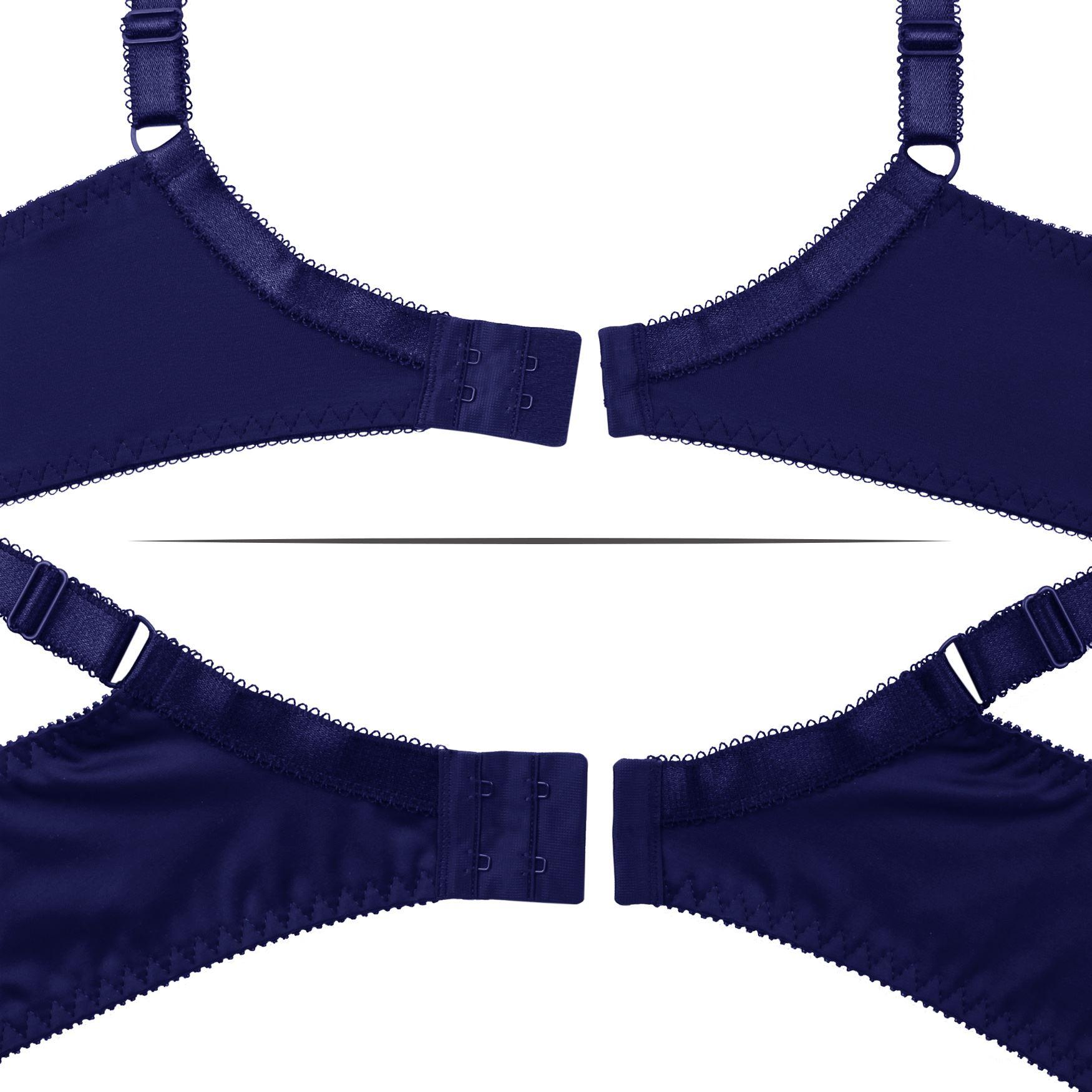 Plus-Size-Bra-Full-Coverage-Underwire-Minimizer-Padded-Comfortable-Lace-Figure thumbnail 16