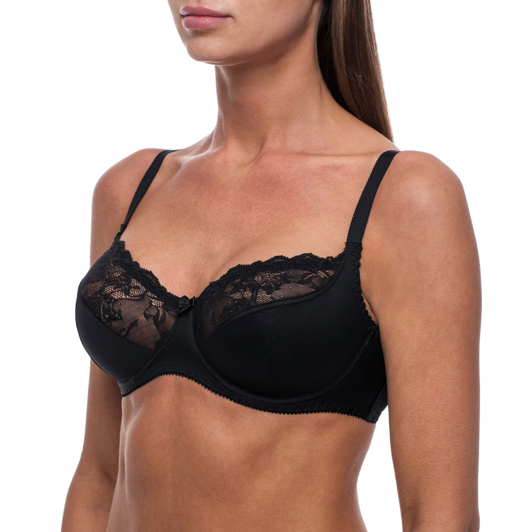 Minimizer-Bra-Sheer-Lace-Unlined-Plus-Size-Comfort-Full-Coverage-Sleep-Figure thumbnail 14