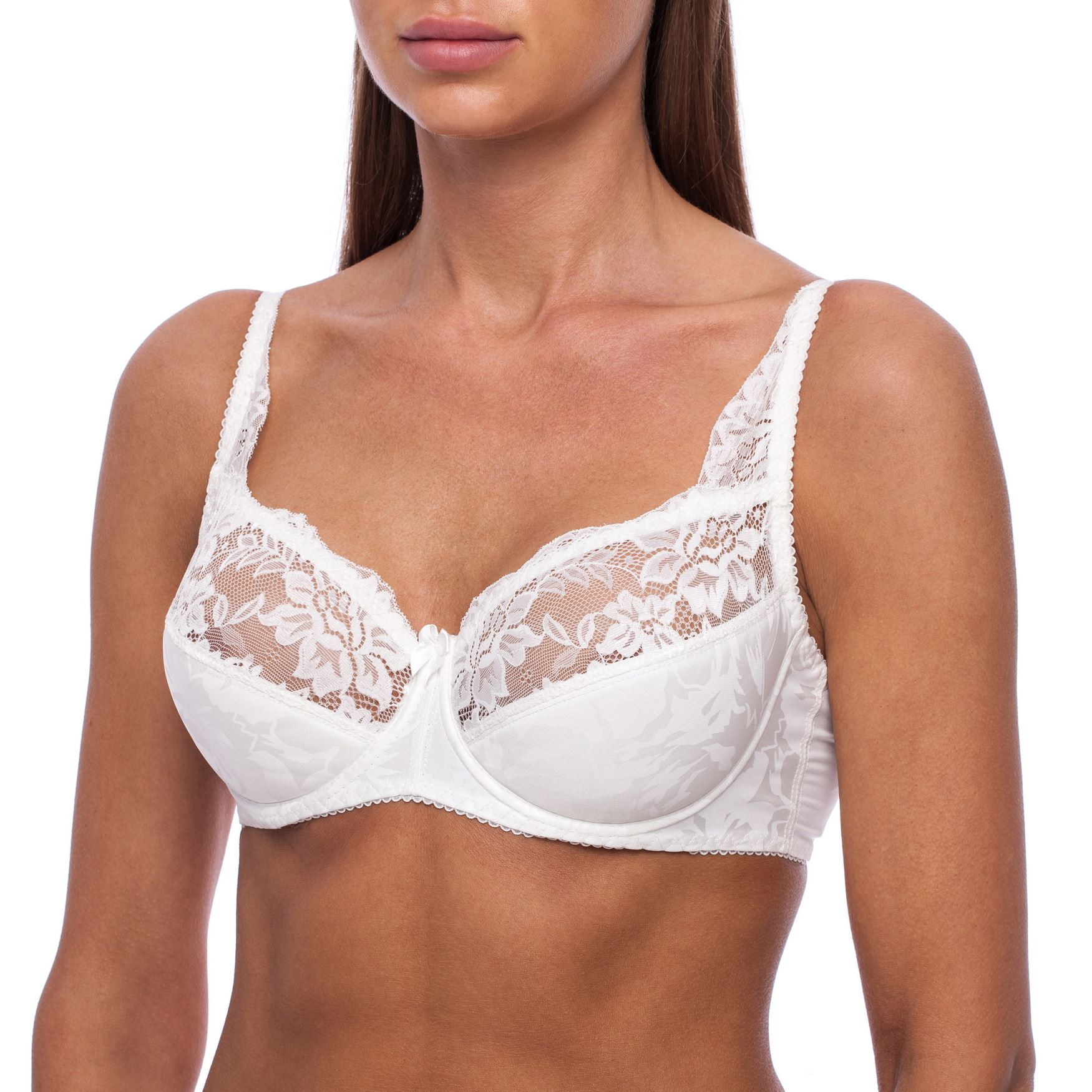 Full-Coverage-Plus-Size-Underwire-Minimizer-Padded-Comfortable-Lace-Figure-Bra thumbnail 12