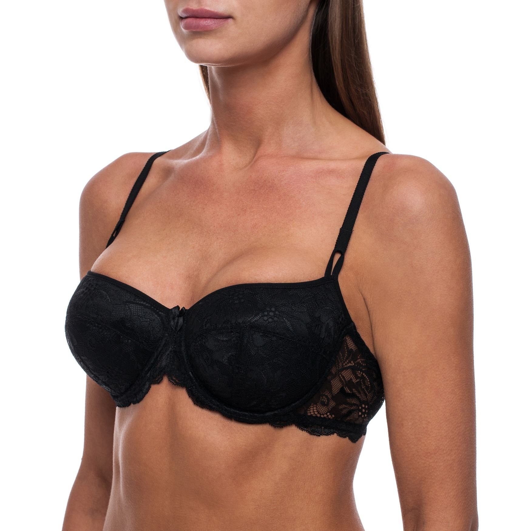 Balconette-Demi-Underwire-Lightly-Padded-Sexy-Comfortable-Lace-Half-Cup-Bra thumbnail 8