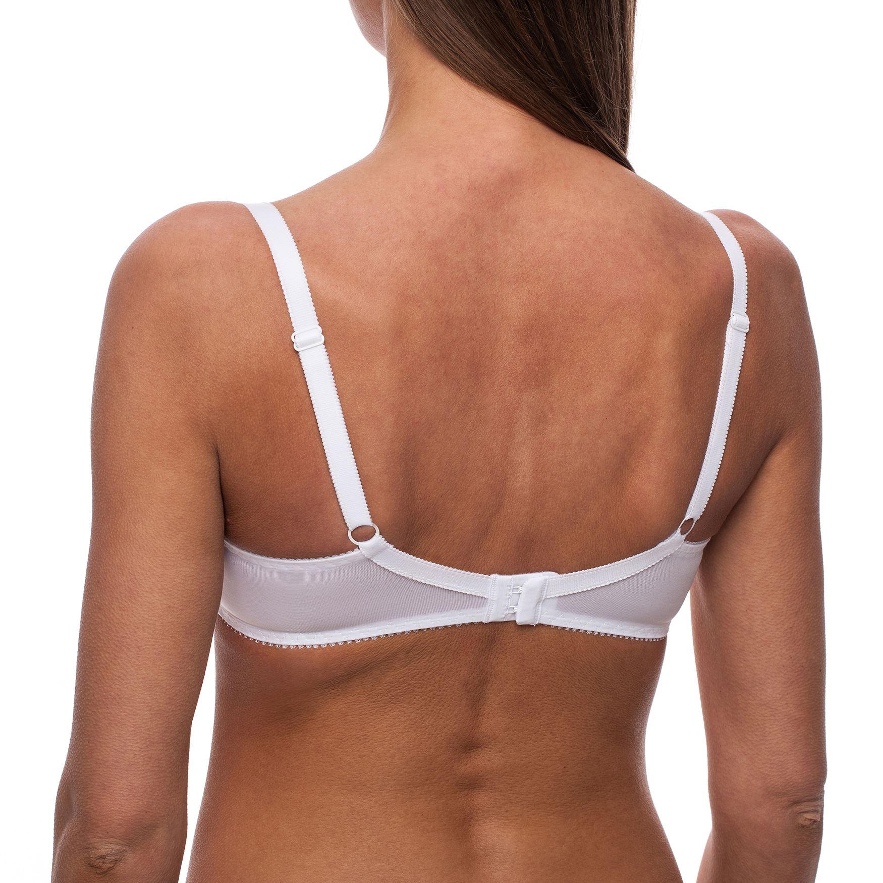 Minimizer-Bra-Sheer-Lace-Unlined-Plus-Size-Comfort-Full-Coverage-Sleep-Figure thumbnail 23