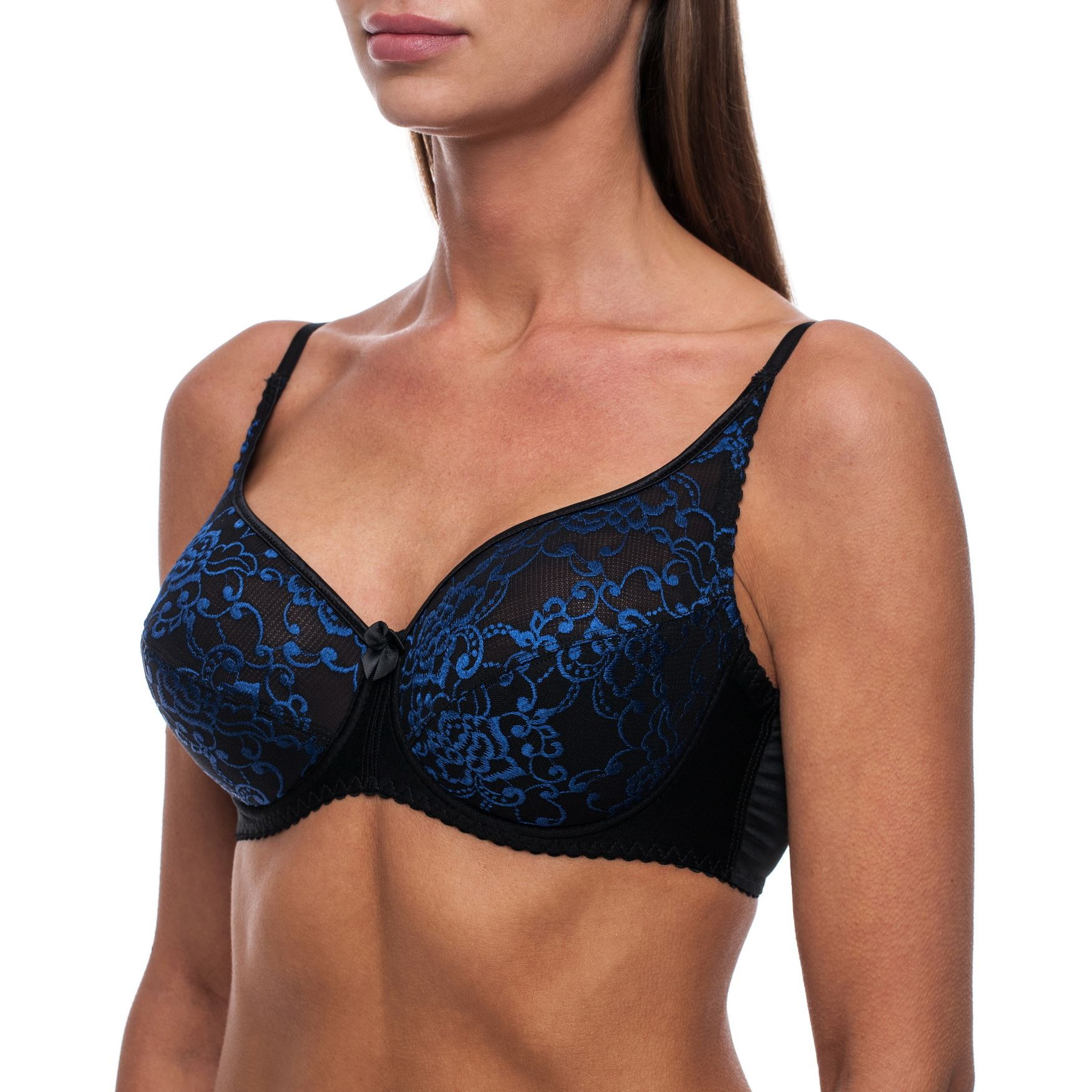 Full-Coverage-Plus-Size-Underwire-Minimizer-Padded-Comfortable-Lace-Figure-Bra thumbnail 8