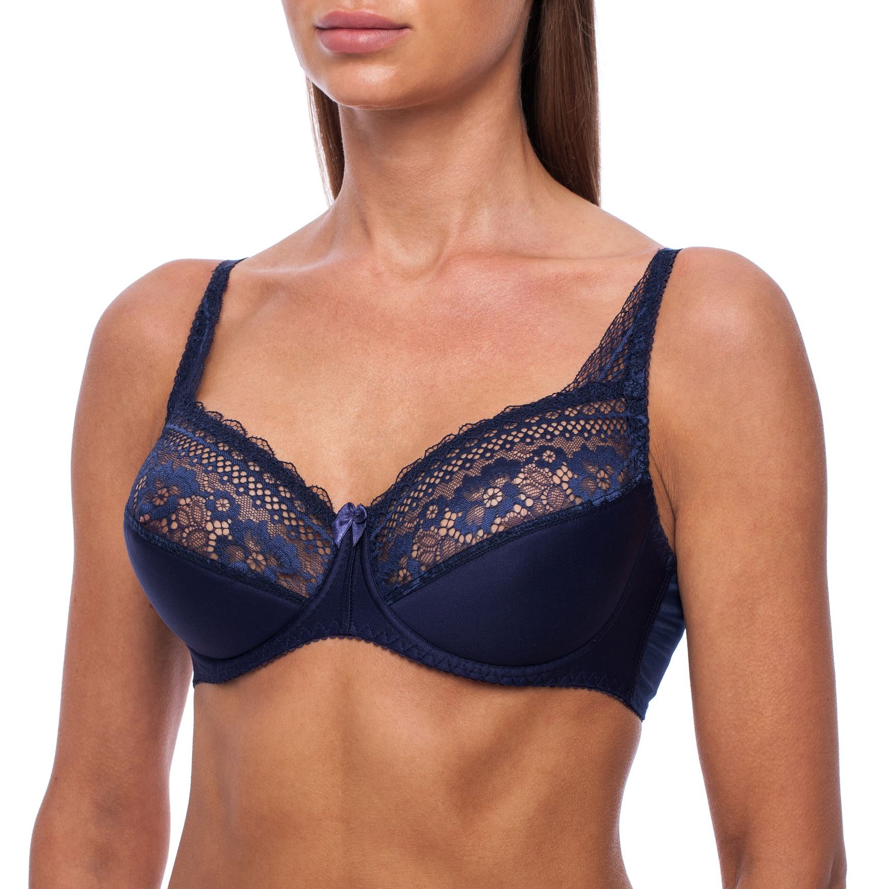 Full-Coverage-Plus-Size-Underwire-Minimizer-Padded-Comfortable-Lace-Figure-Bra thumbnail 16