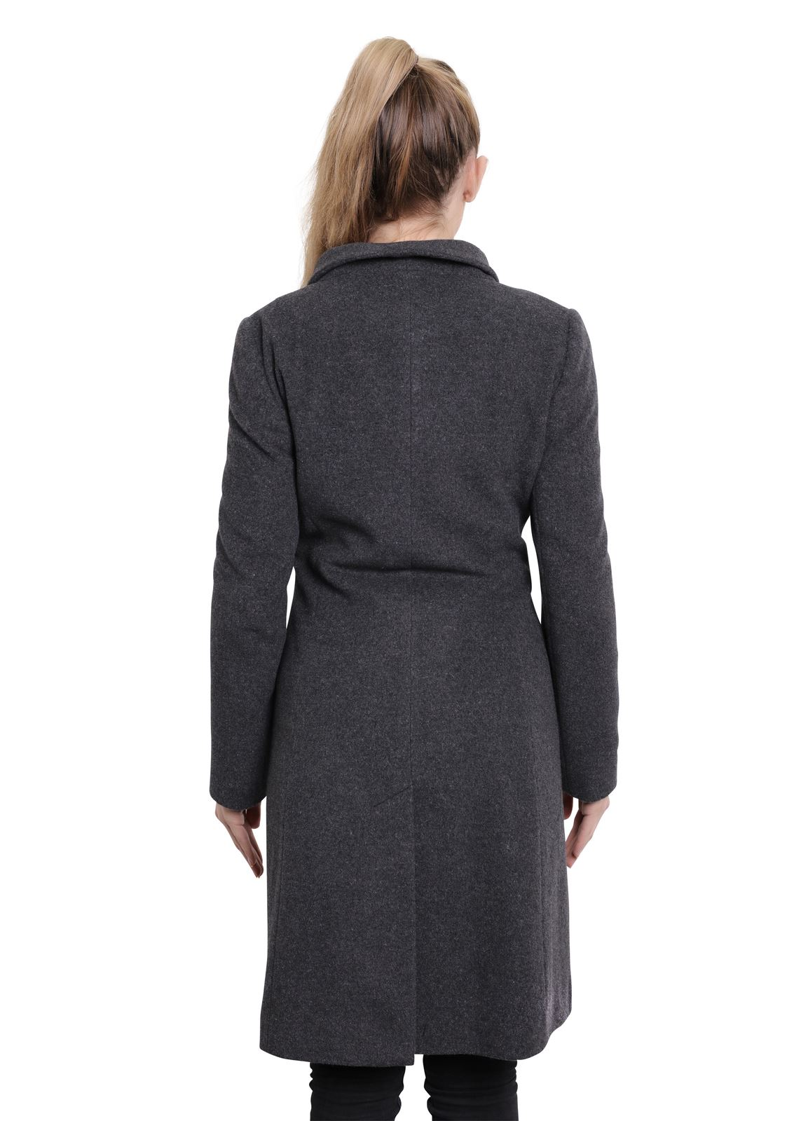 De-La-Creme-Womens-Funnel-Neck-Wool-amp-Cashmere-Blend-Keep-It-Simple-Coat thumbnail 14