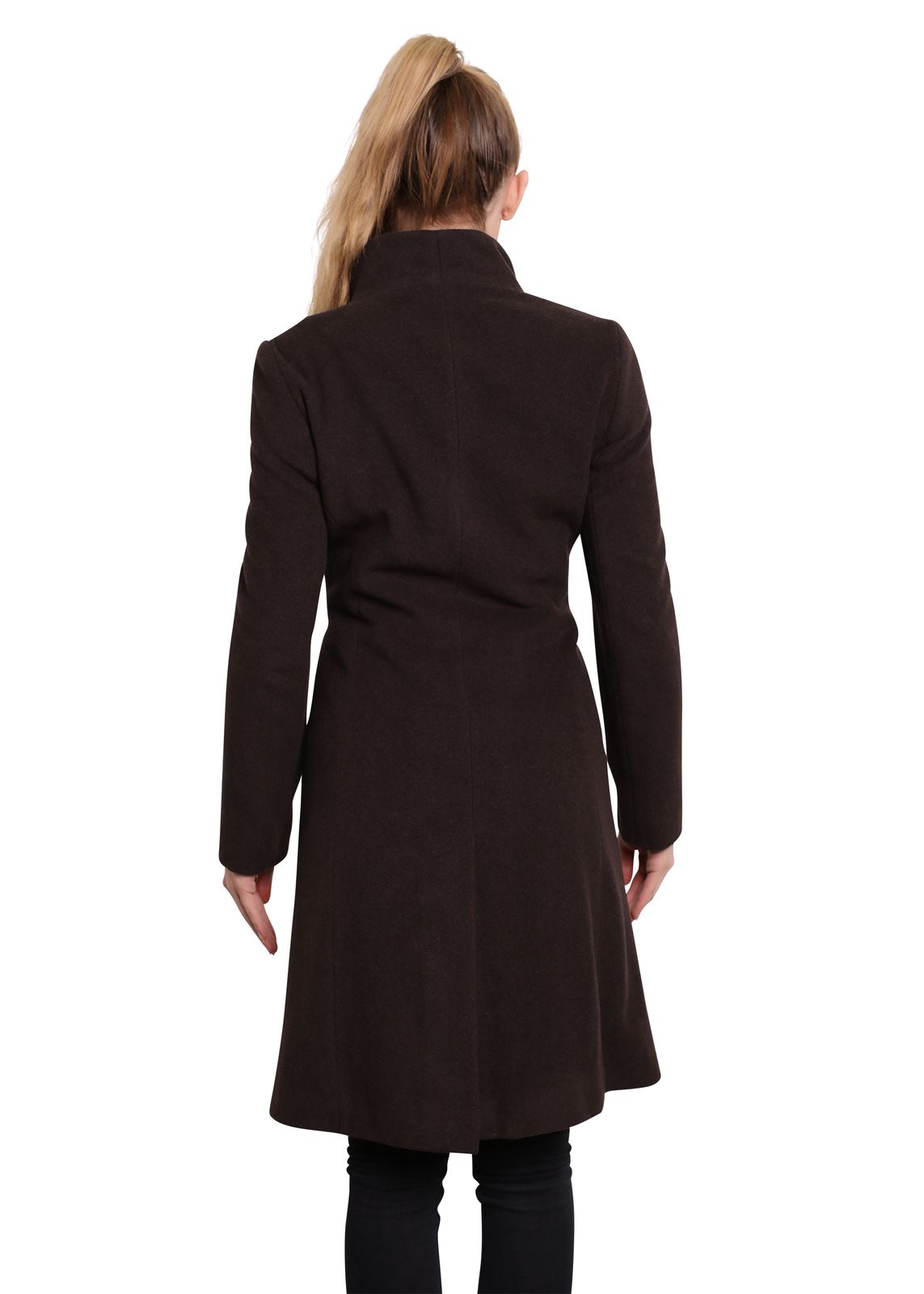 De-La-Creme-Womens-Funnel-Neck-Wool-amp-Cashmere-Blend-Keep-It-Simple-Coat thumbnail 9