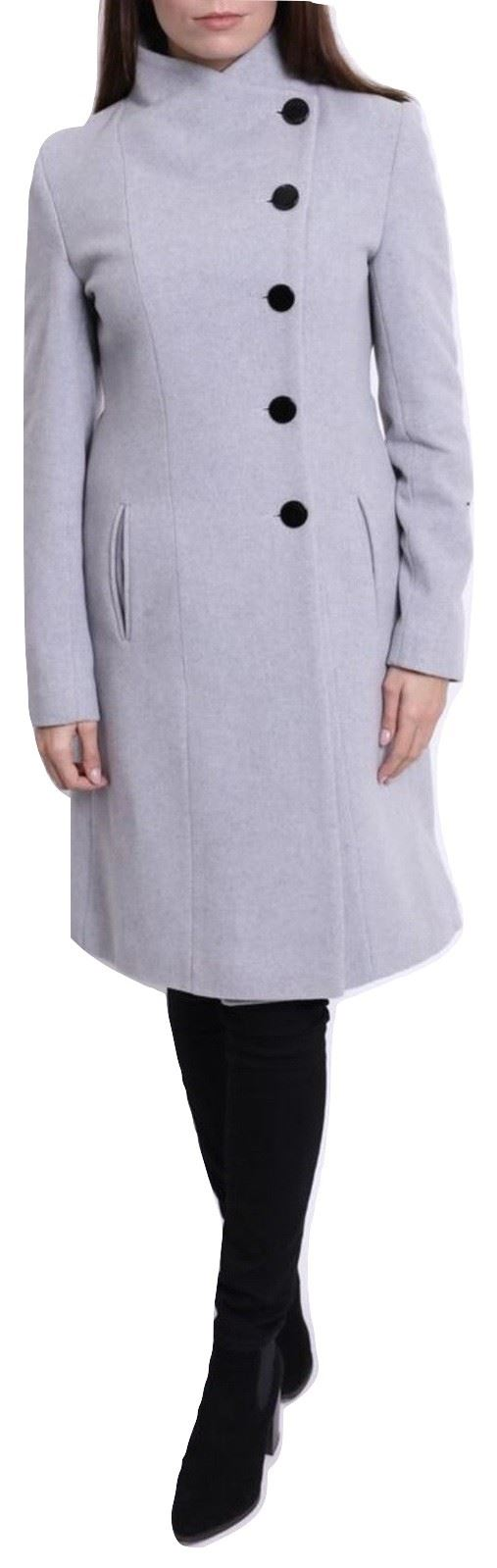 De-La-Creme-Womens-Funnel-Neck-Wool-amp-Cashmere-Blend-Keep-It-Simple-Coat thumbnail 17