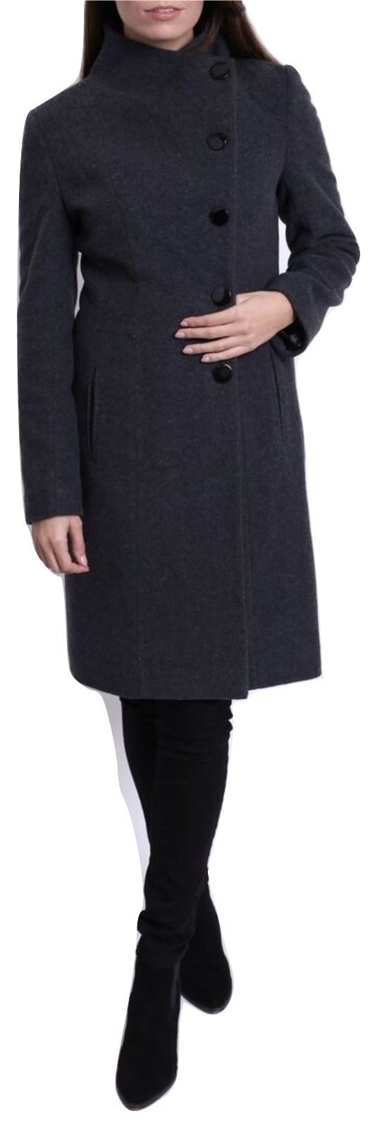 De-La-Creme-Womens-Funnel-Neck-Wool-amp-Cashmere-Blend-Keep-It-Simple-Coat thumbnail 12