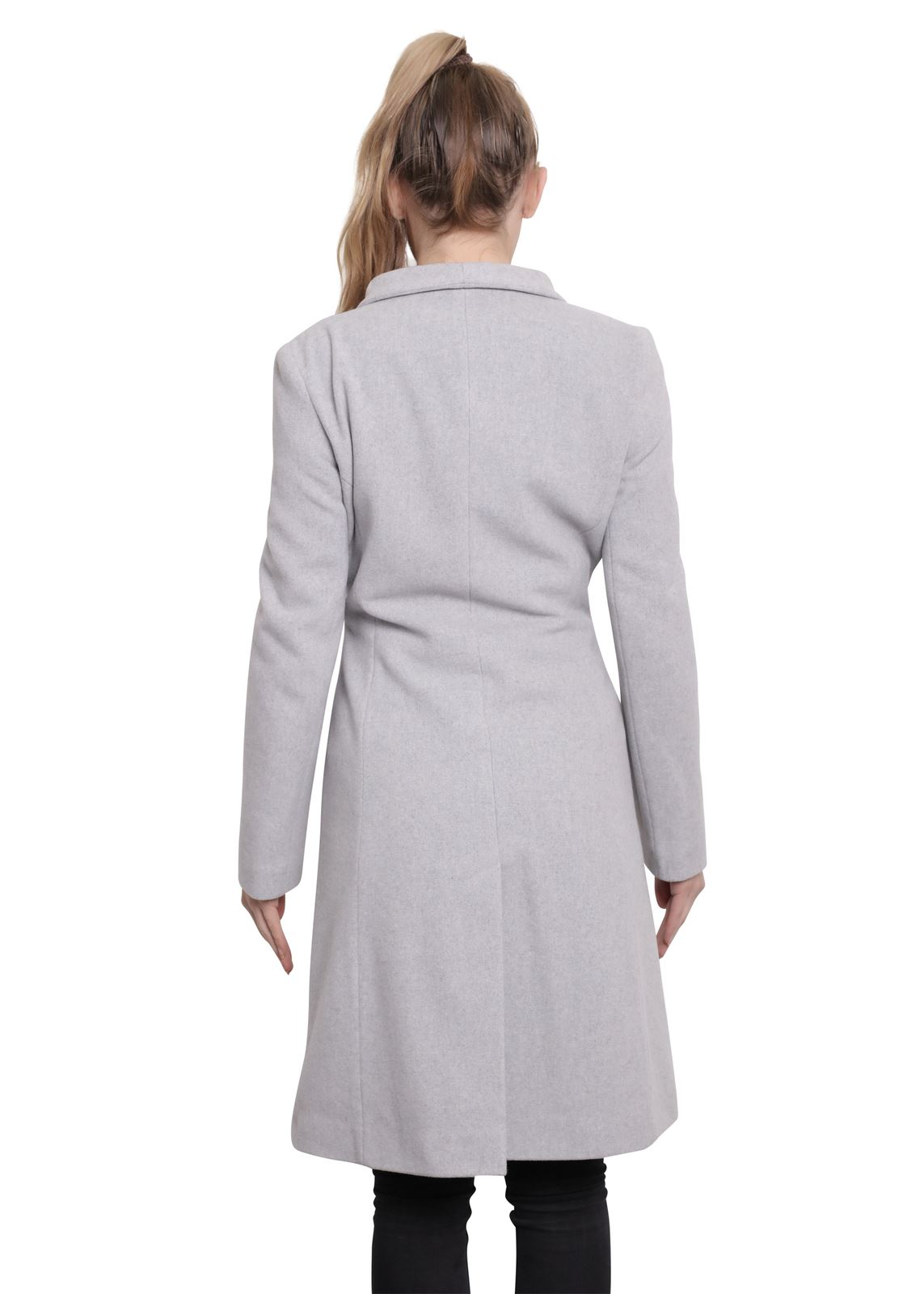 De-La-Creme-Womens-Funnel-Neck-Wool-amp-Cashmere-Blend-Keep-It-Simple-Coat thumbnail 19