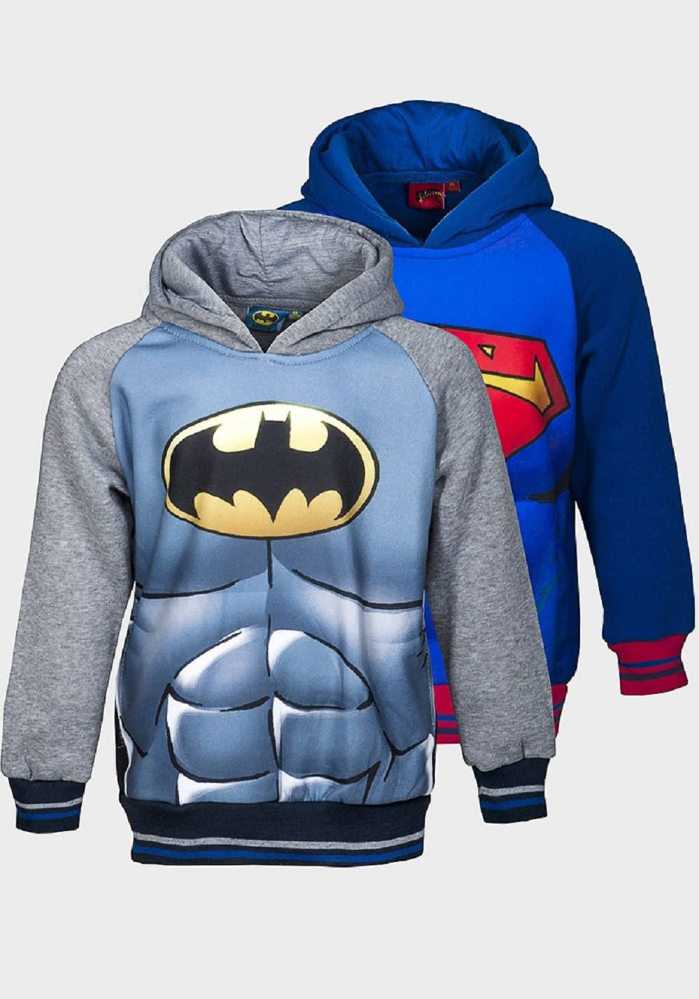SUPERMAN HOODIE//SWEATSHIRT-FULL SLEEVED-FLEECED-REDUCED TO CLEAR-NEW WITHOUT TAG