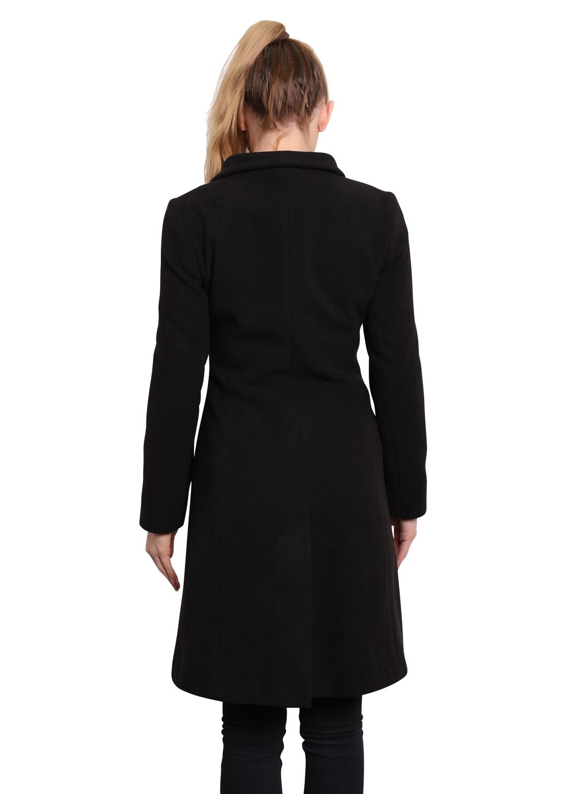 De-La-Creme-Womens-Funnel-Neck-Wool-amp-Cashmere-Blend-Keep-It-Simple-Coat thumbnail 5