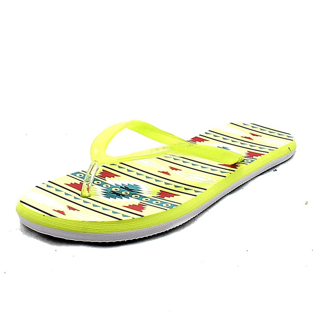 Damas Azteca Estampado Flip Flops/Zapatos De Playa