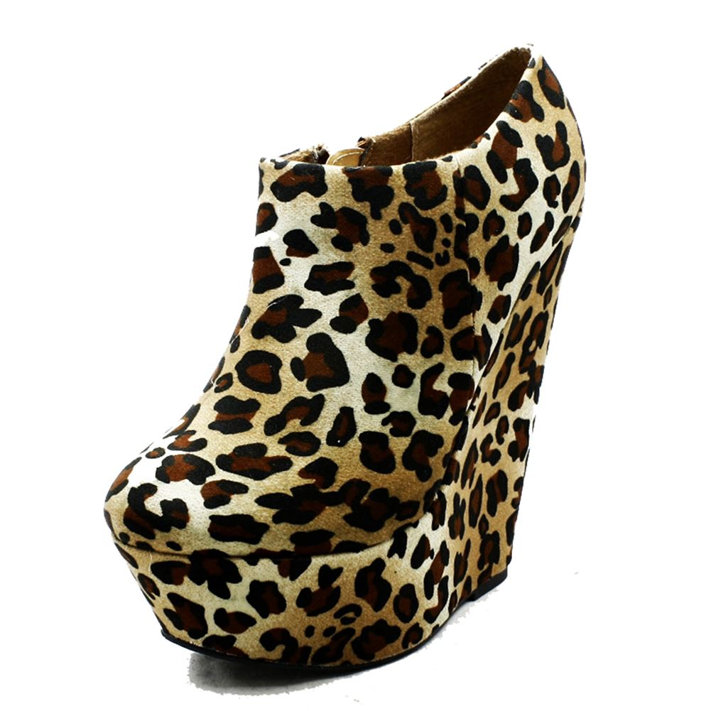 Ladies-Suedette-platform-wedge-ankle-boots