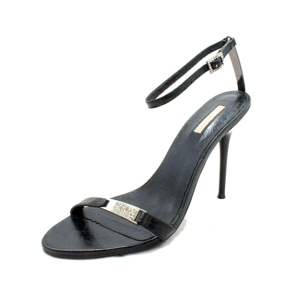 Sandales Talon Aiguille Noir / Chaussures Minimalistes Du Soir Avec Bride À La Cheville Kr8WqzFooJ
