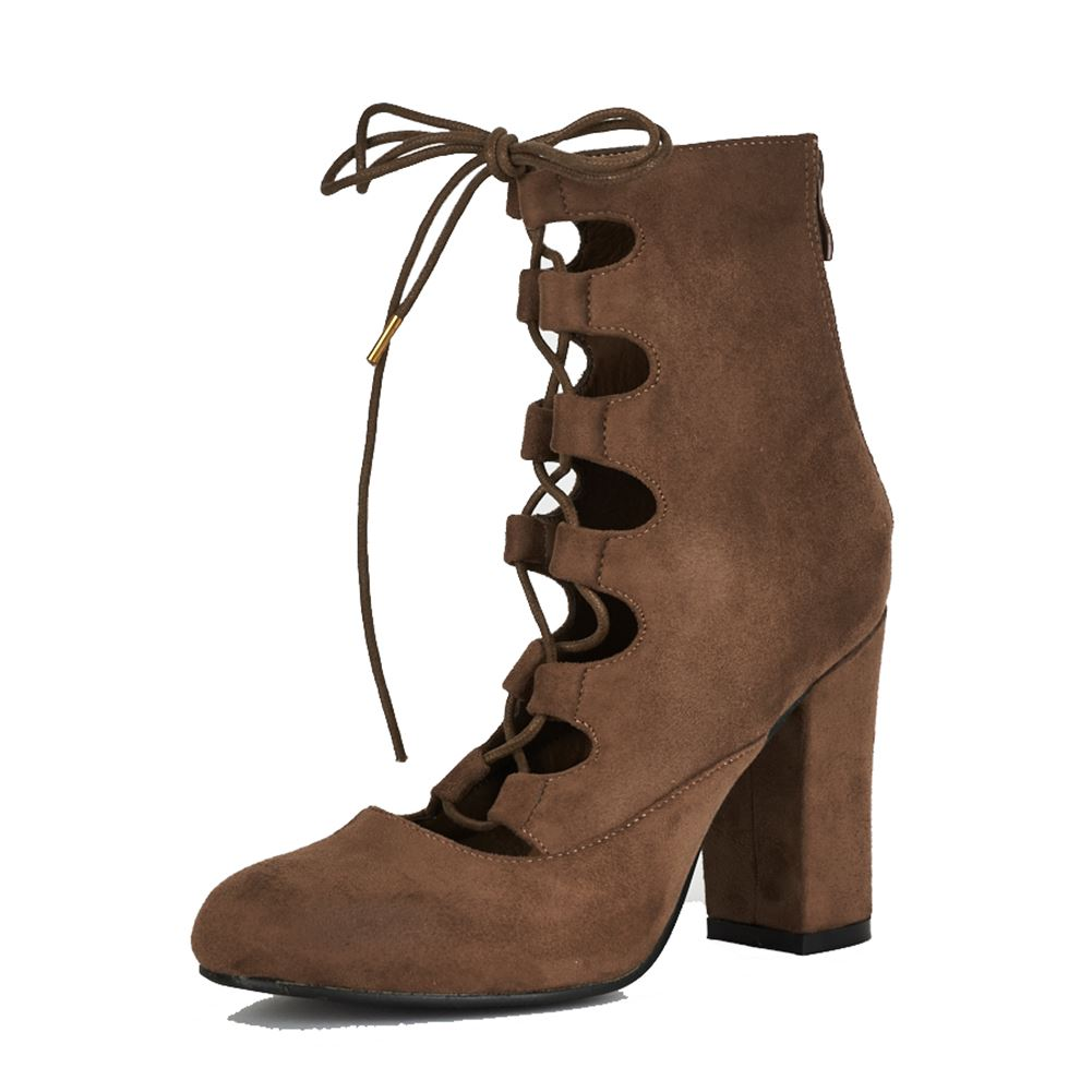 Suedette-block-heel-ankle-boots-with-cut-out-and-lace-up-front