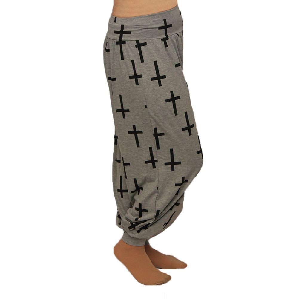 Mujer-Ancho-Holgado-Ajuste-Haren-Ali-Baba-Pantalones-Tallas-Grandes-Too