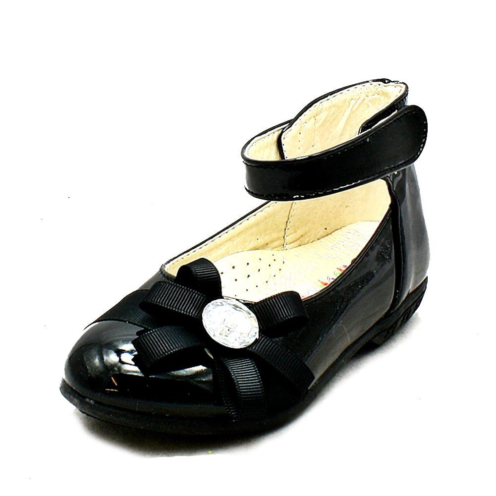Petites Filles Sendit4me Rose Chaussures De Soirée Plates Avec Bride À La Cheville Et Joli Nœud Avant h37P71N