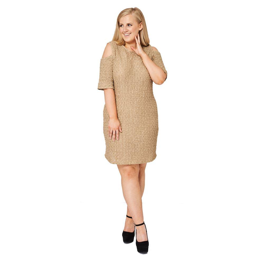 texture plus size dress