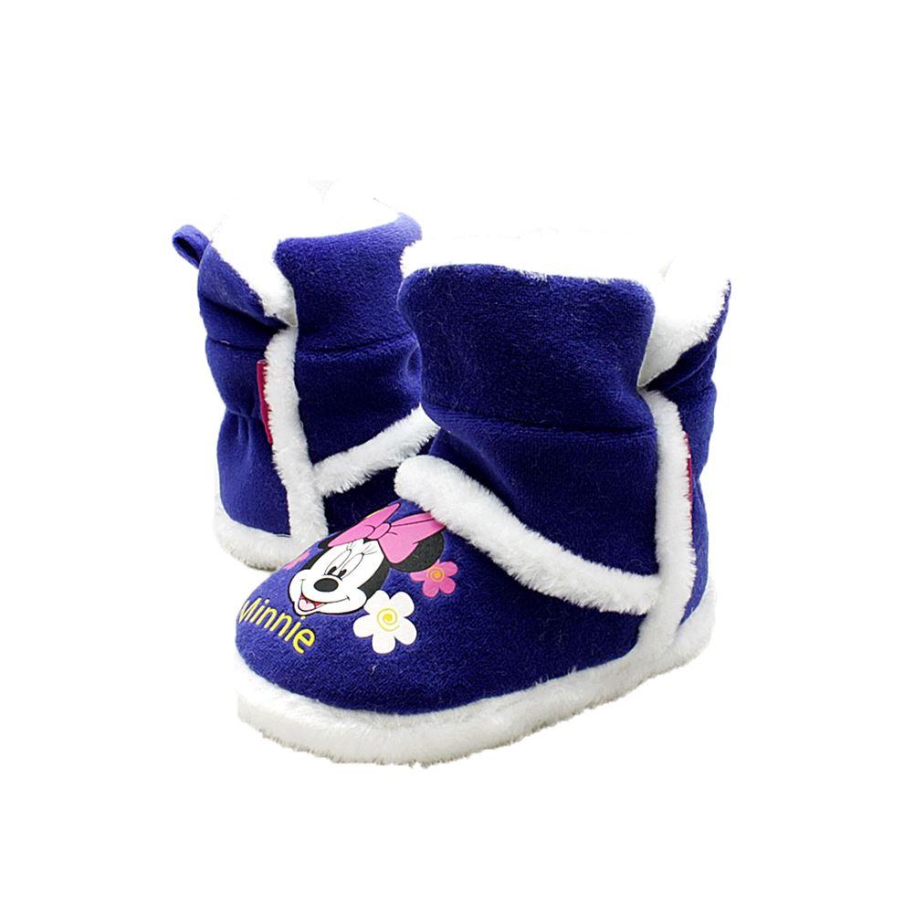 Childrens Mickey/Minnie Mouse Zapatillas Botas Peludas Forrado