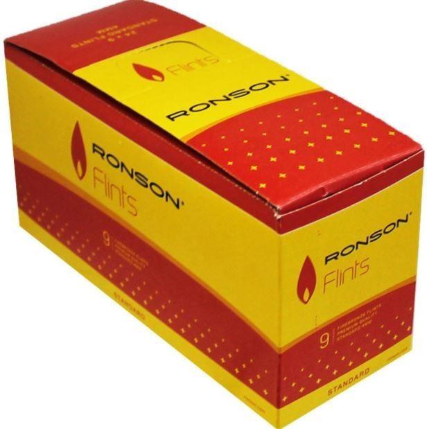 Ronson Firebronze Standard Lighter Flints - Pack of 9 flints