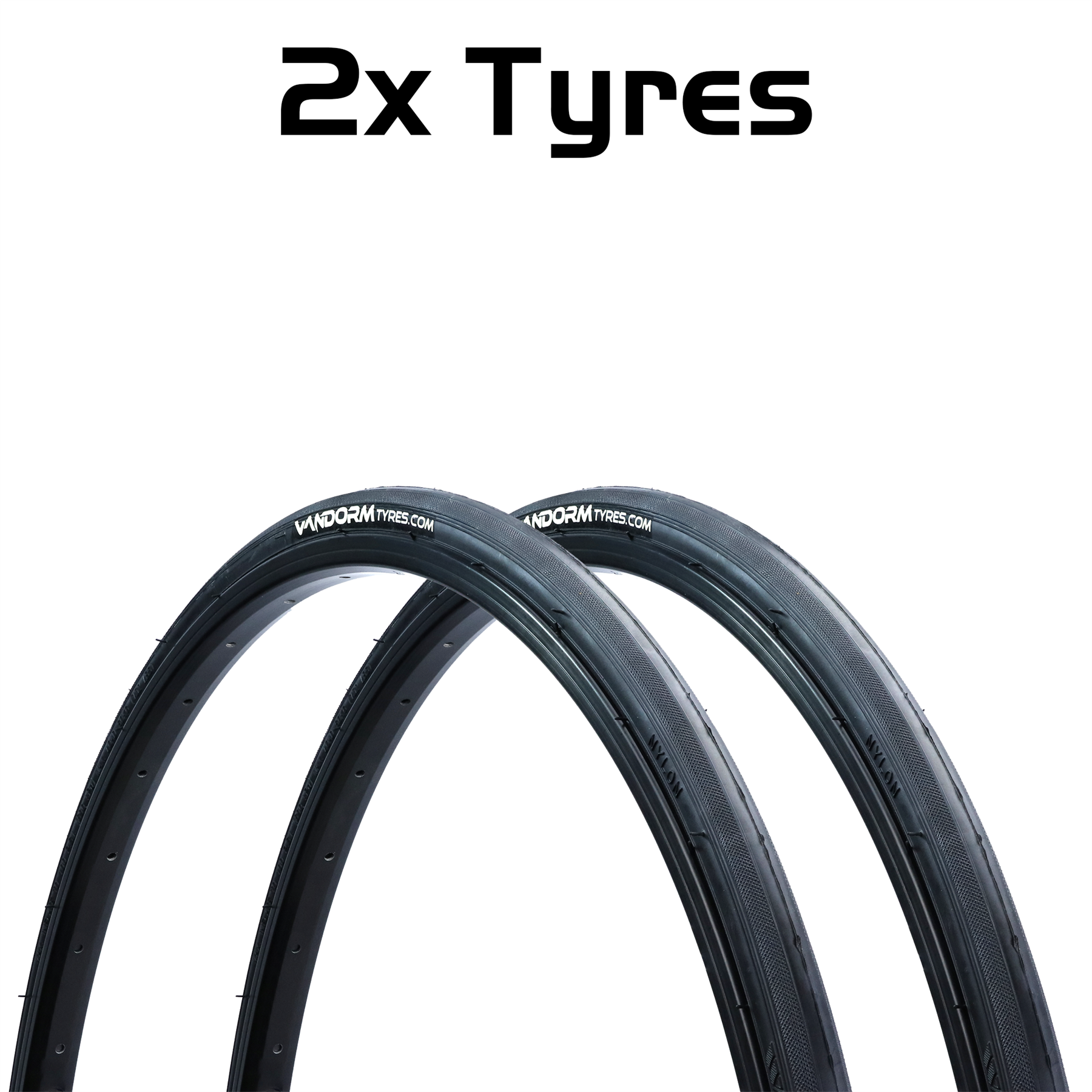 miniatuur 3 - Vandorm 700 x 23c SPEED 3 Colour Road Bike Fixie Tyres & Tube DEAL OPTIONS