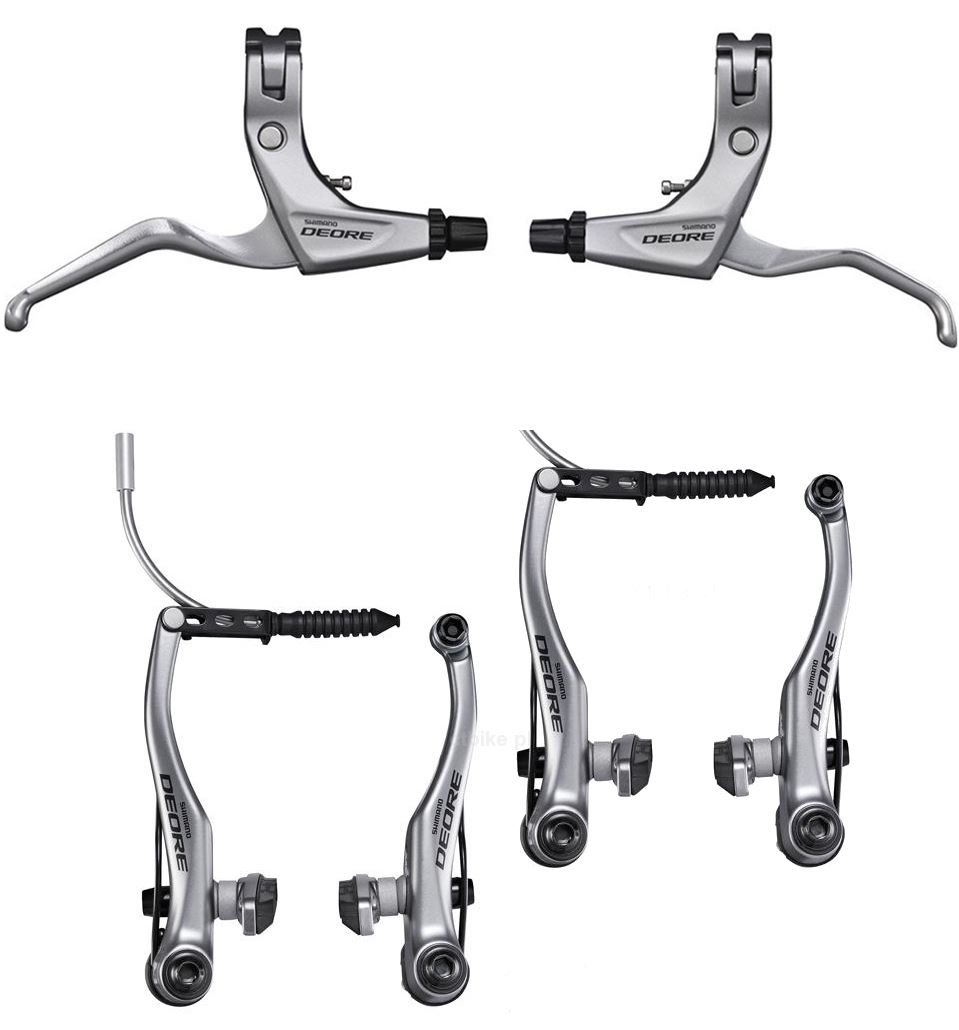 shimano deore v brake mtb set front rear brt610 blt610 and brake levers ebay. Black Bedroom Furniture Sets. Home Design Ideas