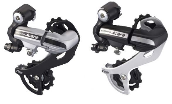 SHIMANO RD-M360-SGS ACERA 7//8 SPEED BLACK DIRECT REAR DERAILLEUR-WITH PACKAGE
