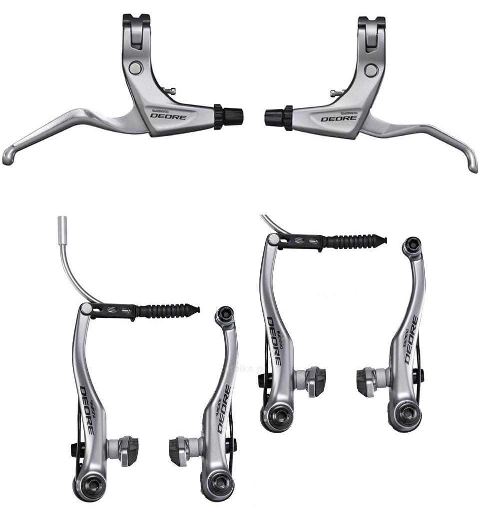 Shimano-Deore-V-Brake-MTB-SET-FRONT-amp-REAR-BRT610-BLT610-and-Brake-Levers