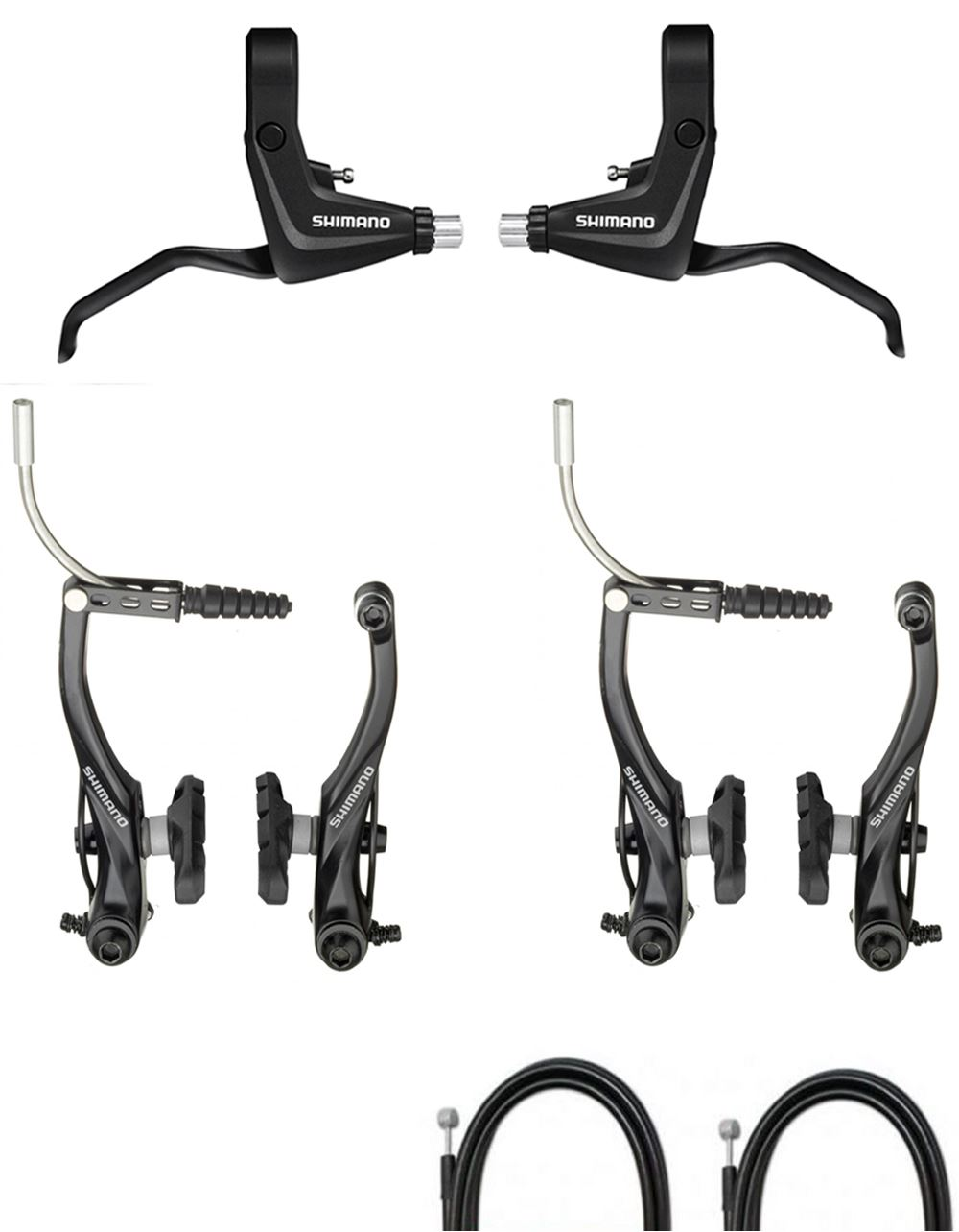 shimano alivio t4000 front rear mtb bike v brake levers. Black Bedroom Furniture Sets. Home Design Ideas