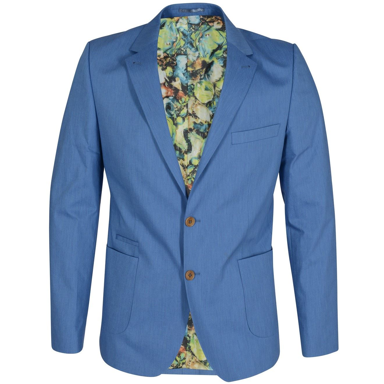 Guide London Jk3098 3 Piece Suit In A Stretch Spring Blue