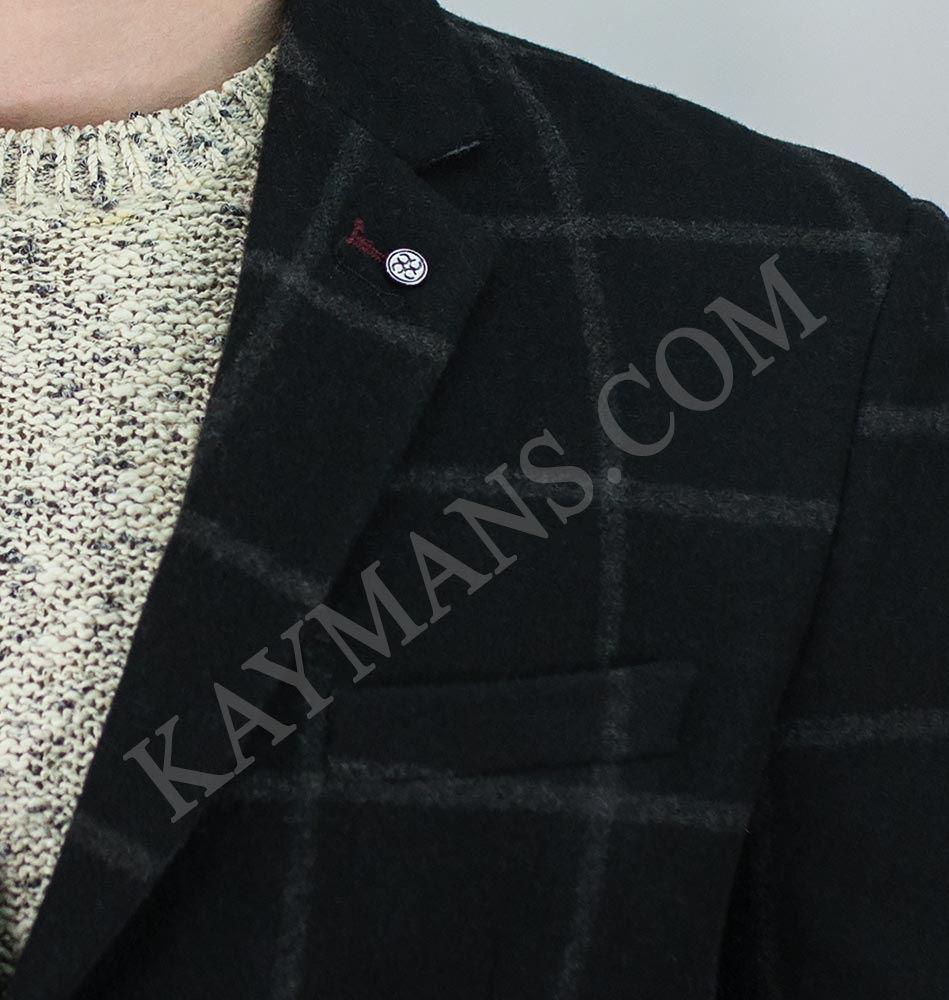 36d1f268f Détails sur cavni homme romain carreaux 3/4 Long Manteau tweed coupe  standard Veste hiver