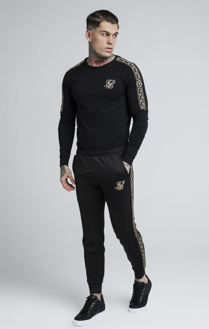 075f5dc4d4599 Sik Silk Cartel Long Sleeves Gym Soft-Touch Fabric Crew Neck Cotton ...