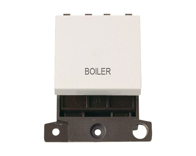 Click Mini Grid 20A DP Switch Polar White Boiler MD022PWBL Define ...
