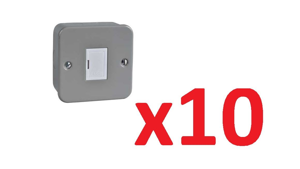 10 x Schneider 13 A Interrupteur Fusible Spur Fuse Metal Clad connexion GMC13SP vrac