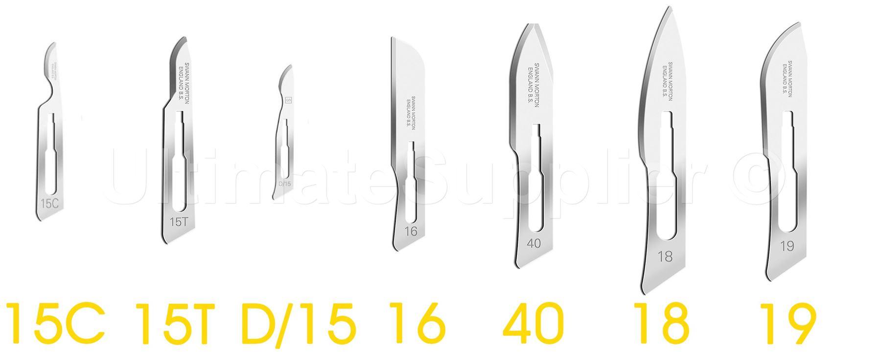 *Swann Morton Non-Sterile Blue Box Type Scalpel Blades Craft*