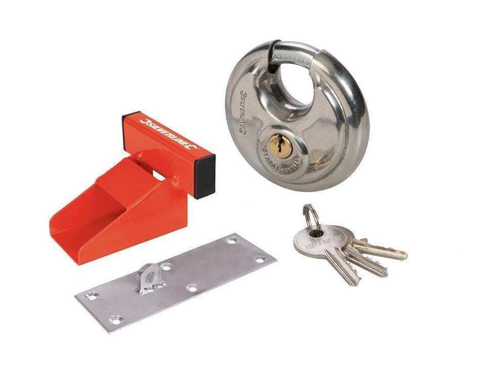 Heavy Duty Garage Door Defender Lock Solid Steel Security