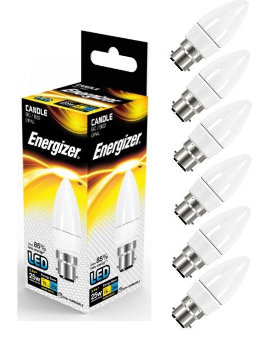 Energizer 4w 40w Filament Led Candle Ses: 6 X Energizer LED GU10 Candle Golf B22 E14 E27 ES Bayonet