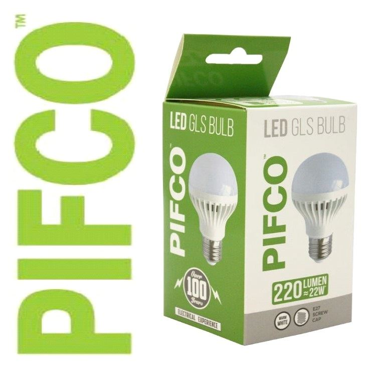 Pifco 3 Watt E27 Es Led Gls 220 Lumen Energy Saving Warm White Light Bulbs