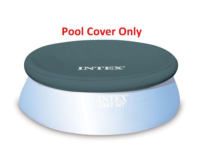 Intex 10ft Round Swimming Paddling Pool Cover Easy Fast Set Rope Ties