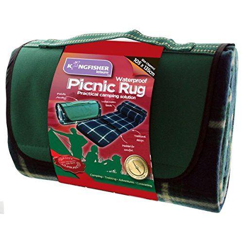 Kingfisher Pn004 Picnic Camping Beach Rug - Green