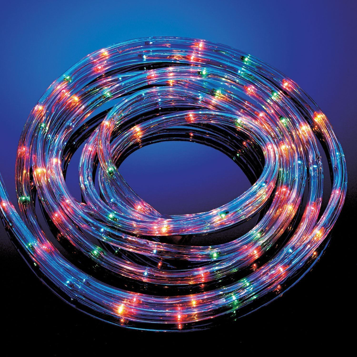 25m multi coloured led rope light outdoor indoor lights christmas picture 2 of 2 mozeypictures Choice Image