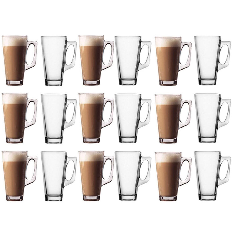 COFFE-CLEAR-GLASSES-COFFEE-TEA-LATTE-CAPPUCCINO-MUGS-CUPS-NEW-BOXED-240ML