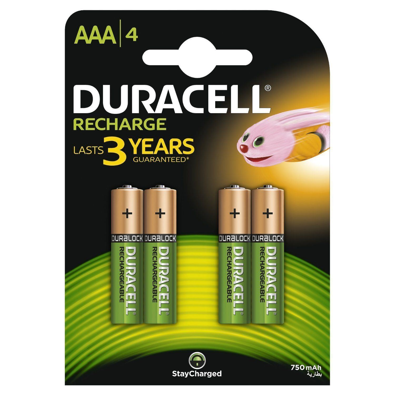 4 X Duracell 750mah Aaa Size Rechargeable Accu Batteries