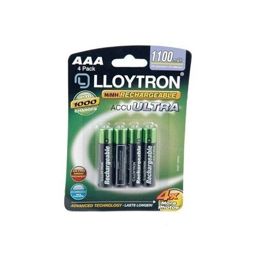 4 X Lloytron Aaa 1100 Mah Nimh Rechargeable Batteries 1.2v Hr03 Cordless Phone