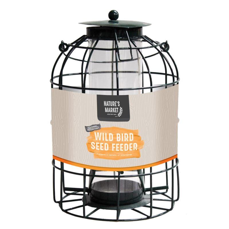 Natures Market Metal Hanging Lantern Wild Bird Seed Feeder-afficher Le Titre D'origine