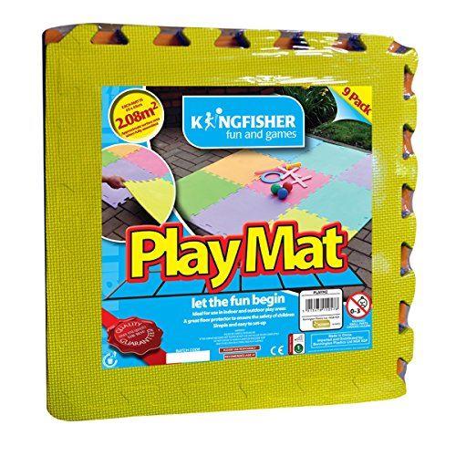 King Fisher Playm2 Interlocking Multi-colour Foam Matt (9-piece)