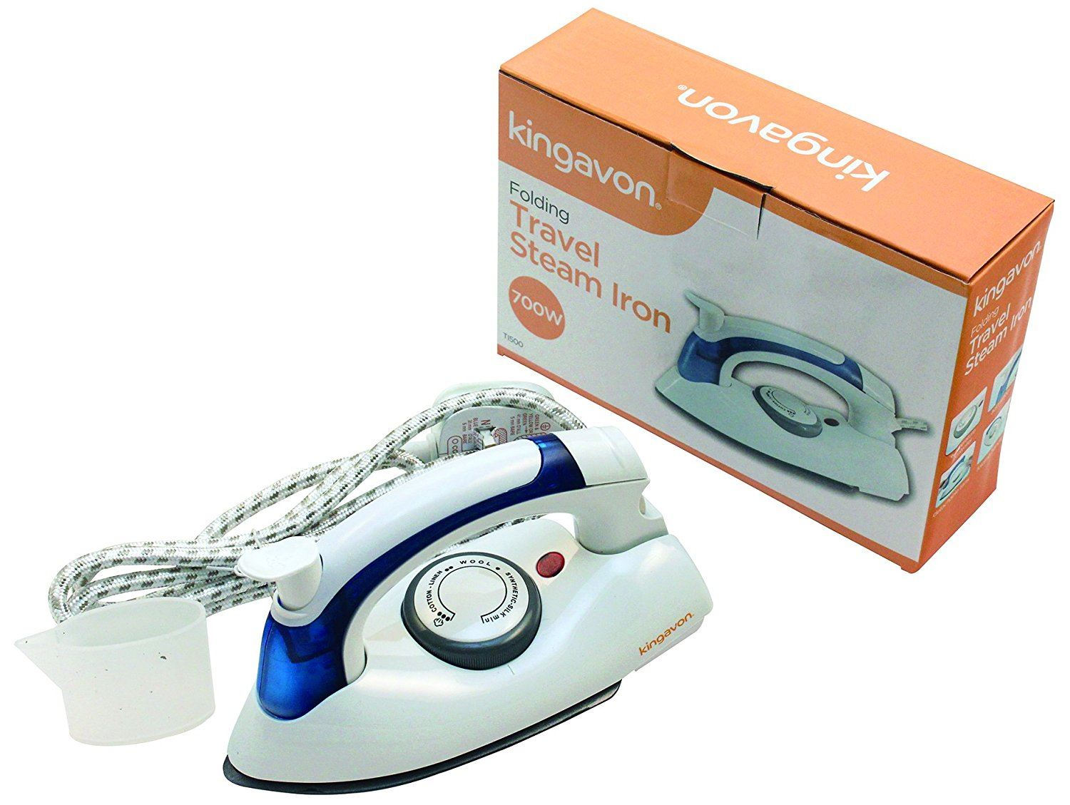 1 X Kingavon Travel Portable Iron 700w White