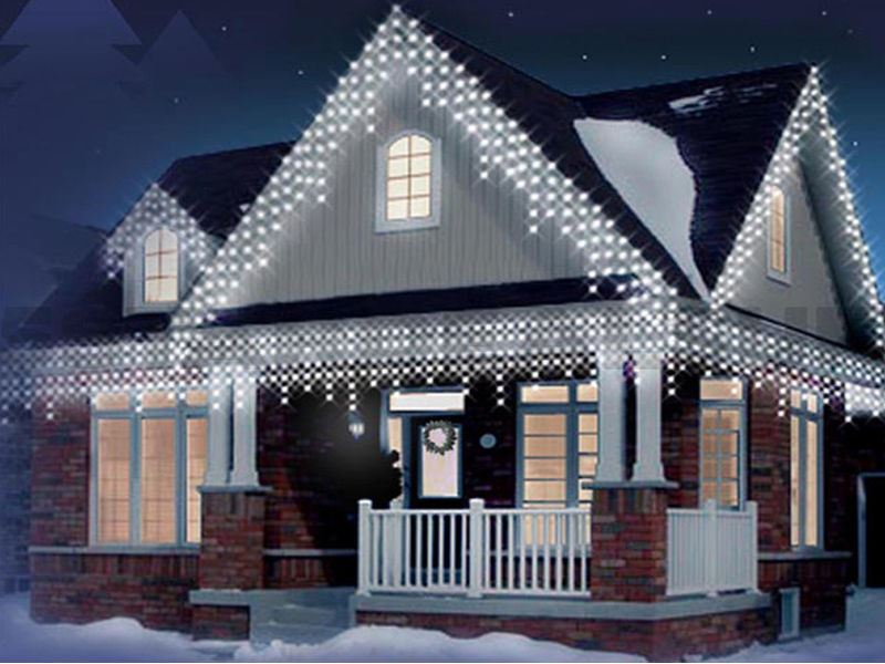 Led Christmas Lights Outdoor.Details About White 480 Led Christmas Icicle Snowing Xmas Lights Party Outdoor